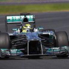 Nico Rosberg en los primeros libres