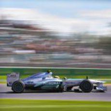 Primera sesión de Lewis Hamilton con Mercedes