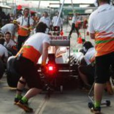 Pit stop en Force India