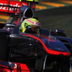 Sergio Pérez debuta en Melbourne con McLaren