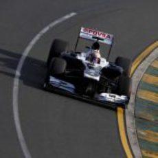 Pastor Maldonado prueba a dar una vuelta rápida con los superblandos