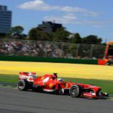 Fernando Alonso en el segundo sector