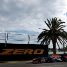 Sebastian Vettel rodando en los libres