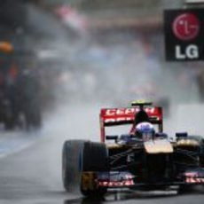Jean-Eric Vergne rueda en el Gran Premio de Australia