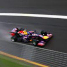 Sebastian Vettel rodando en los terceros libres