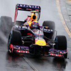 Mark Webber rodando en clasificación