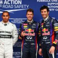 Vettel, Webber y Hamilton, los más rápidos en la primera Q3 del año