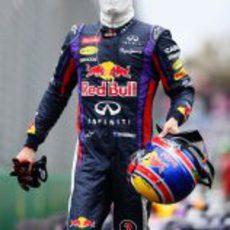 Mark Webber terminó segundo en la Q3 de su GP local