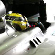 Nico Rosberg destacó en Q1 y Q2, pero fue sexto en la Q3