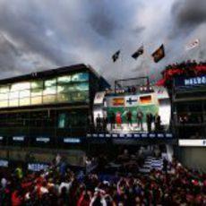 Primer podio de la temporada 2013 de Fórmula 1