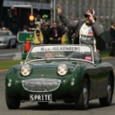 Nico Hülkenberg durante el 'Driver's Parade' del GP de Australia