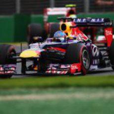 Sebastian Vettel logró terminar en el podio en Melbourne