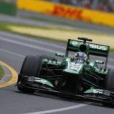Charles Pic completa su primer Gran Premio a los mandos de su CT02