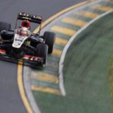 Romain Grosjean tuvo problemas con el E21