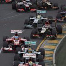 Salida del Gran Premio de Australia 2013