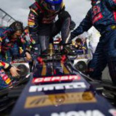 Daniel Ricciardo instantes antes de la salida del GP de Australia