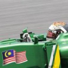 Giedo van der Garde maneja su CT03 en el Gran Premio de casa de Caterham