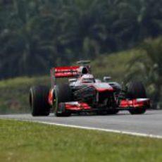 Jenson Button terminó más contento los entrenamientos de Malasia