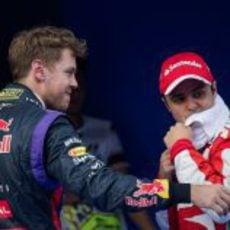 Sebastian Vettel y Felipe Massa, protagonistas en Sepang