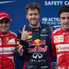 El dedo de Sebastian Vettel sigue protagonizando poles en F1