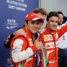 Los dos pilotos de Ferrari, bien posicionados para el GP de Malasia 2013