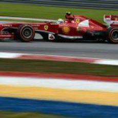 Felipe Massa tuvo muy buen ritmo en la clasificación de Sepang