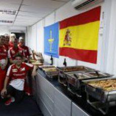 Comida asturiana en Ferrari