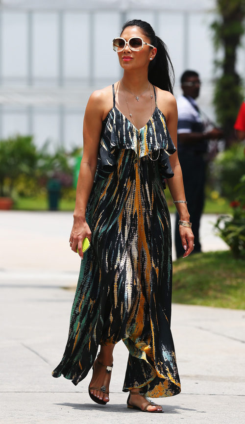 Nicole Scherzinger en el Gran Premio de Malasia 2013
