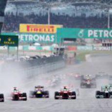 Salida del Gran Premio de Malasia 2013