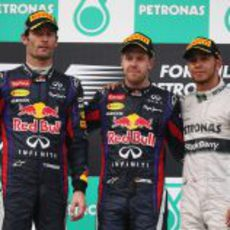 Caras largas en el podio del Gran Premio de Malasia 2013