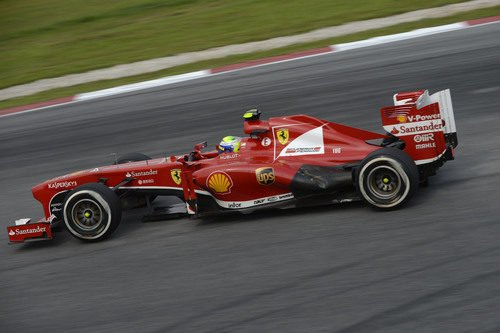 Felipe Massa acabó quinto el GP de Malasia 2013