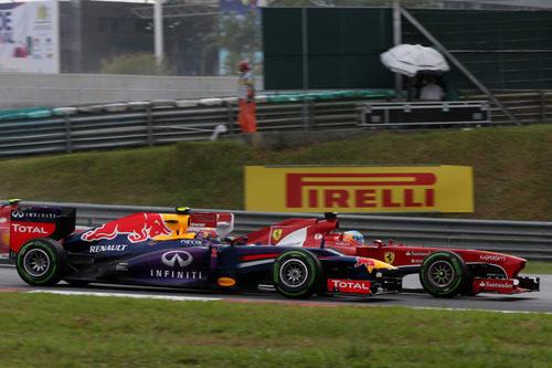 Mark Webber y Fernando Alonso en paralelo