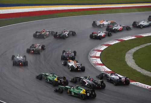 Parte trasera de la parrilla en el Gran Premio de Malasia 2013