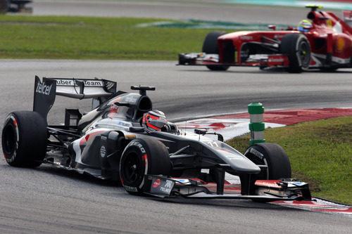 Nico Hülkenberg y Felipe Massa en Sepang