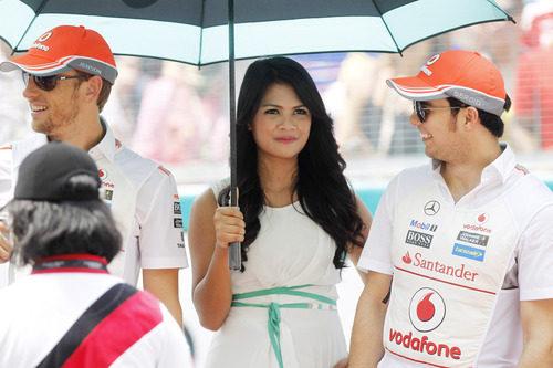 Los dos pilotos de McLaren