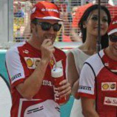 Buen rollo entre los hombres de Ferrari