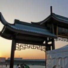 Puesta de sol en China