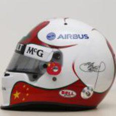 Lateral del nuevo casco de Ma Qing Hua