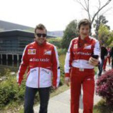 Fernando Alonso y Massimo Rivola