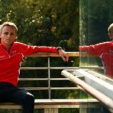 Max Chilton en el paddock de China