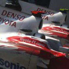 Los dos Toyota después de la carrera