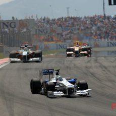 Heidfeld en el GP de Turquía