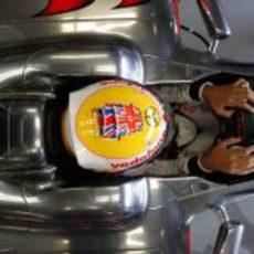 Parte superior del casco de Hamilton