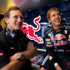 Horner y Vettel