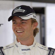Rosberg en su box