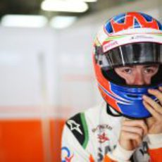 El casco de Paul di Resta