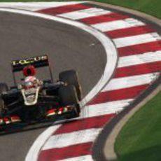 Romain Grosjean en los entrenamientos libres