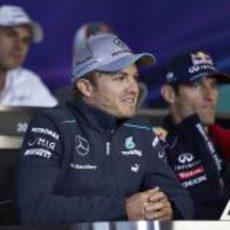 Nico Rosberg en rueda de prensa