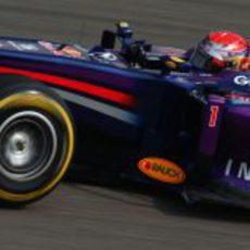 Sebastian Vettel rodando en los primeros libres