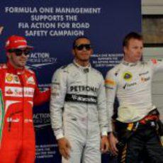 Alonso, Räikkönen y Hamilton, los hombres más rápidos en China